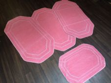 ROMANY WASHABLES NEW GYPSY SETS OF 4PCS LIGHT PINK MATS NON SLIP TOURER SIZES